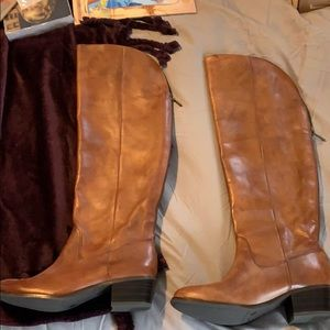 Leather OTK boots